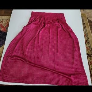 Vintage Prophecy size 16 hot pink and black skirt